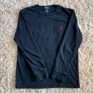 Boy's Polo Ralph Lauren Large Black L/S T-Shirt